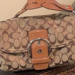 Brown and Beige Coach Bag 💼